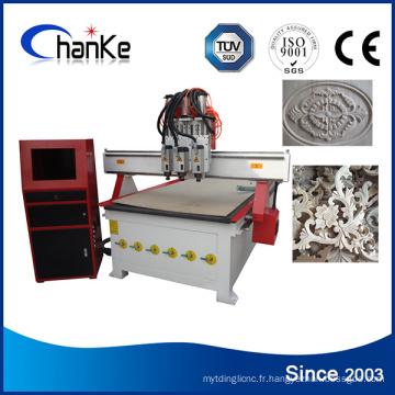 Machinerie de découpage CNC à 4 axes CNC / rotatif CNC avec Rotary