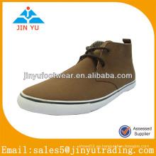 2014 últimos zapatos de lona marrón para hombres