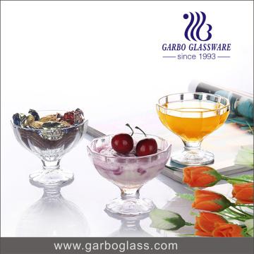 Copa de helado de jugo de vidrio informal Copa de patata de chocolate