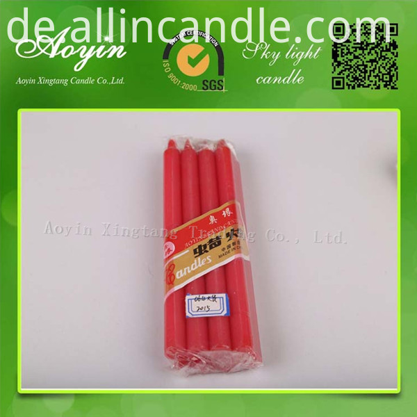 red color candle