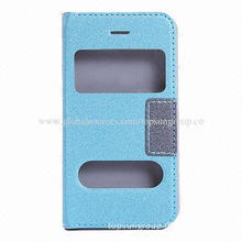 Hot Selling Flip Leather Cover for Samsung Galaxy, Made of PU Material