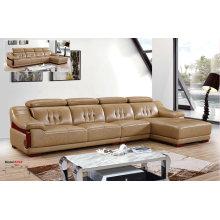 Америка кожаные диваны мебель, фарфор, секционные кожаный диван (619)