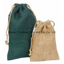 Promotional Custom Small Eco Jute Drawstring Pouch Bag