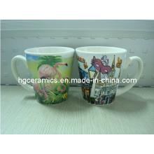 V-Shaped Ceramic Mugs, 12oz