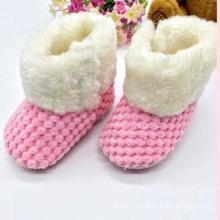 Новые детские зимние сапоги для новорожденных Детская обувь (KX715)