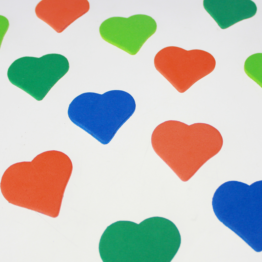 Bright Heart Foam Stickers