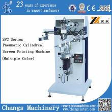 Impresora de pantalla plana / cilíndrica neumática Spc-300m