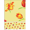 Hot Sale High Quality LFGB Customized Printed Plastic Tablecloth with Backing (JF0490)