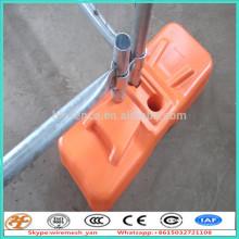 base de vedação temporária, pés e órtese de suporte