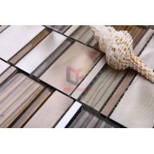 Shining Aluminium Mix Wave Glass Crystal Metal Mosaic Tiles (CFA61)
