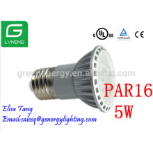 Alibaba express UL listed TUV approved LED spotlight PAR16 5w