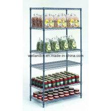 Support de stockage en métal de magasin de gondole d'approbation de NSF avec 6 étagères