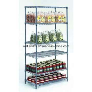 NSF Approval Gondola Store Metal Storage Rack with 6 Shelves