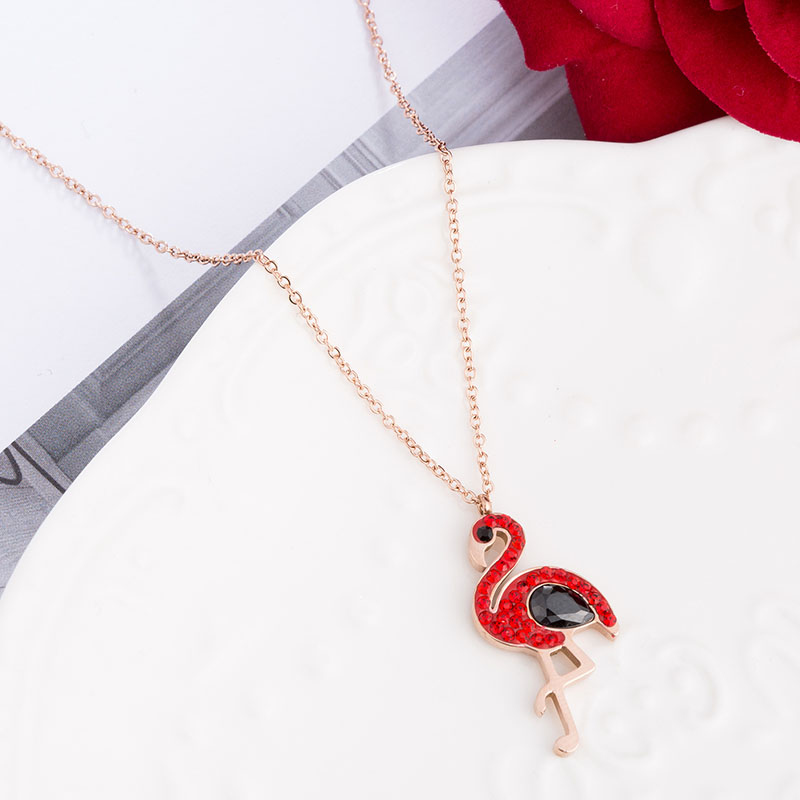 Diamond Flamingo Necklace