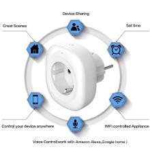 Alexa Google Home Assistant Europe Energy Meter Smart Wifi Socket EU Plug Smart Plug Wifi EU Smart Plug With Power Monitor