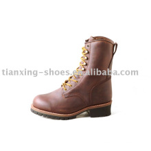 """8 """"Brown Logger Boots"""