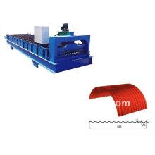 QJ 12-63-825 cor aço arqueado rolo dá forma à máquina