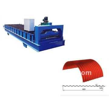 QJ 12-63-825 color acero arqueado rodillo que forma la máquina