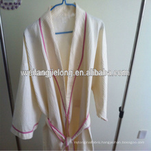 100% cotton white hotel waffle bathrobe