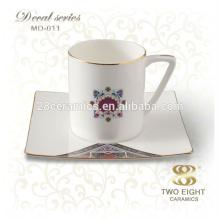 Factory direct wholesale traditional porcelain enamel arabic tea cup set