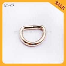 MD08 Heiße Verkaufstasche Metall d Ringgürtelschnalle, D-Formwölbungsring für Handtaschen