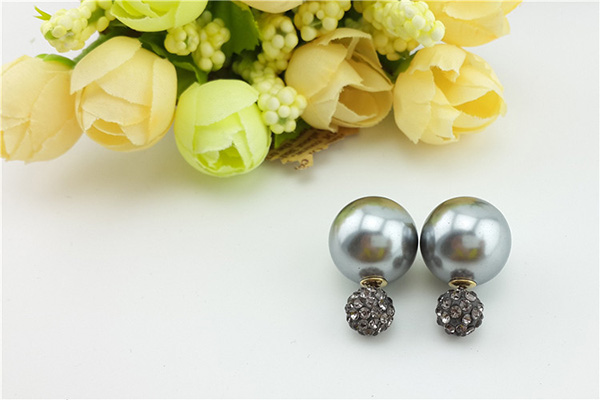Shamballa Crystal Stud Earrings For Women