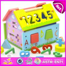 Jouet en bois de bloc de coup en 2014 pour des enfants, bloc en bois de frappe de jouet pour des enfants, blocs en bois de cliquetis éducatifs réglés pour l'usine de bébé W12D009
