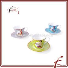 2015 neue Produkte benutzerdefinierte gedruckte Keramik Teetasse und Untertasse