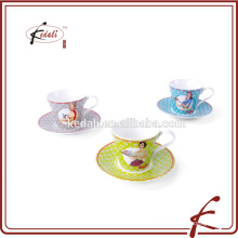 2015 new products custom printed ceramic tea cup and saucer