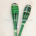 Cheap lâmpada de tocha de bambu para iluminação de jardim