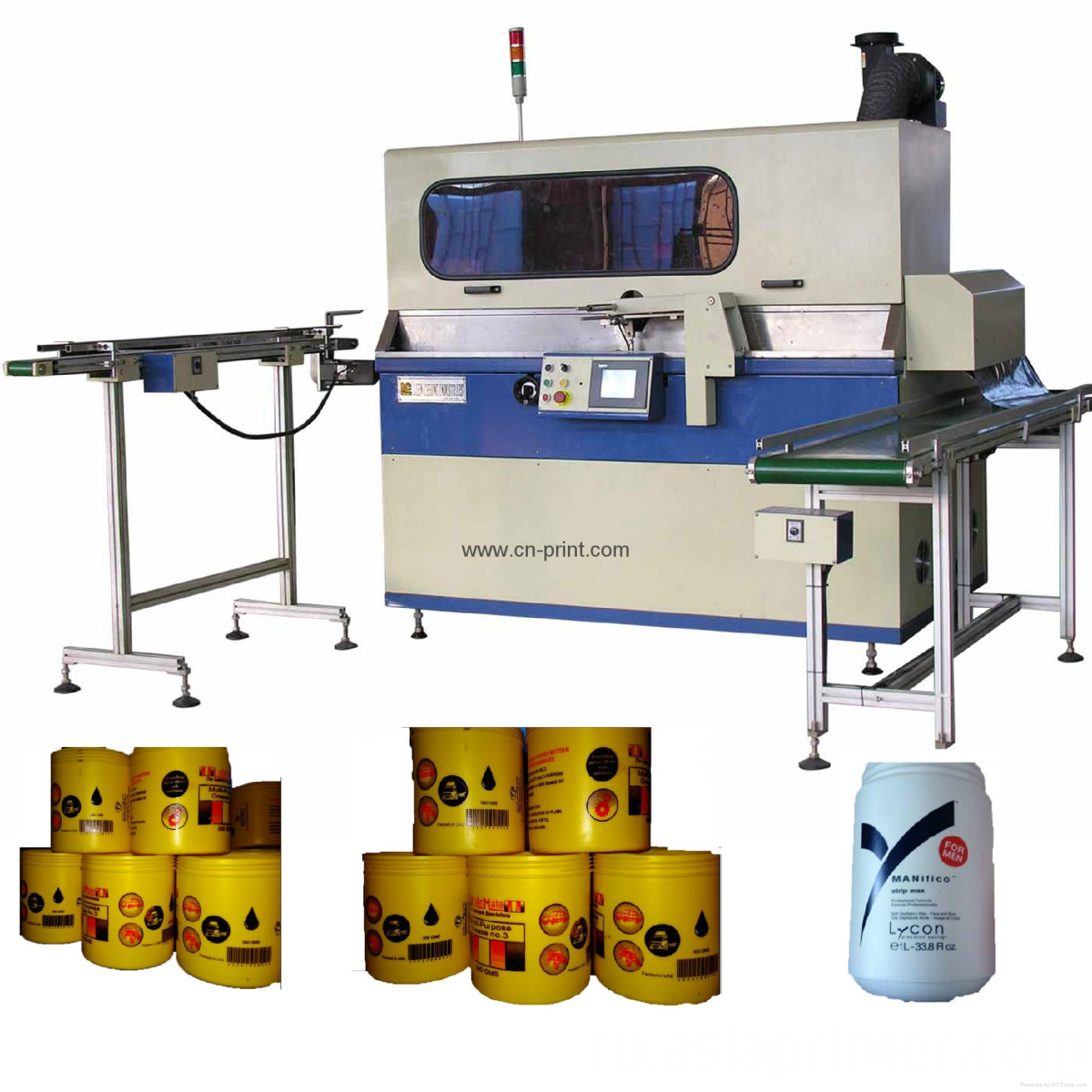 Full-Automatic Cans Screen Printer with UV Drying System