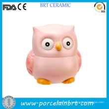New Design Unique Owl Shaped Ceramic Coin Saving Bank
