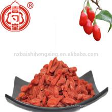 Grado de ningxia del precio bajo Un goji secado 250 tamaño grande con gusto dulce