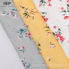 Tecido de rayon impresso jacquard com vestido floral