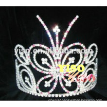 colored stunning fashion butterfly rhinestone tiaras