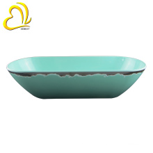 Cheap Boat Shape Buffet Serving Mixing Bowls Melamine Salad Bowls for Restaurant