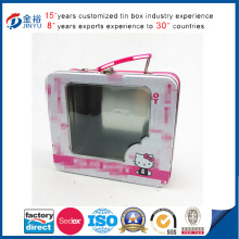 Wholesale Metal Tin Lunch Box with Handle and PVC Window