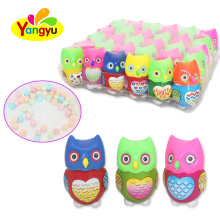 Funny Bottle Candy Lovely Owl Bottle Packed With Sweet Tablet Candy