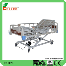 Electric three function hospital bed with commode