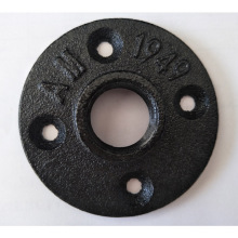 "Black cast iron 3/4"" floor flange for DIY table"