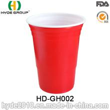 Copo bebendo plástico de 16oz por atacado / copo de solo vermelho para o partido