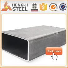 Black tubo de aço retangular fábrica em Tianjin