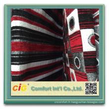 Sofa de tissu géométrique 100 polyester canapé tissu de Chenille chenille