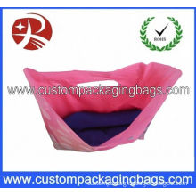 Fold Over Die Cut Printed Polythene Bags Security For Shopping
