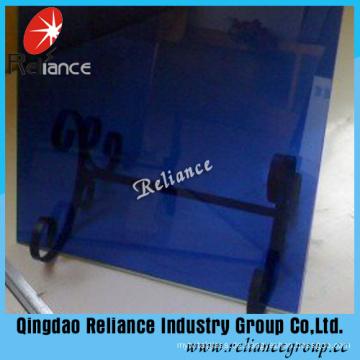 6mm dunkelblau getöntes Glas mit hoher Qualität