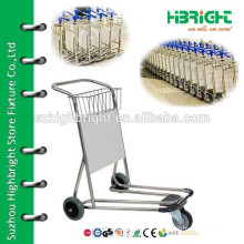 3 wheel airport aluminum luggage cart