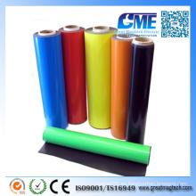 Imán de caucho de vinilo adhesivo de papel fotográfico de color fuerte con rollos / hoja