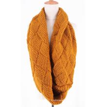 Calentador de cuello unisex para mujer Fancy Knitting grueso invierno Loop Snood bufanda (SK156)