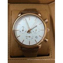 Кожаные часы с двумя Толкателями 3yees