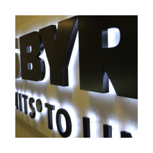 Advertising Illuminated Sign Acrylic backlit letters Sign DIY channel letters signs Easy manual installation